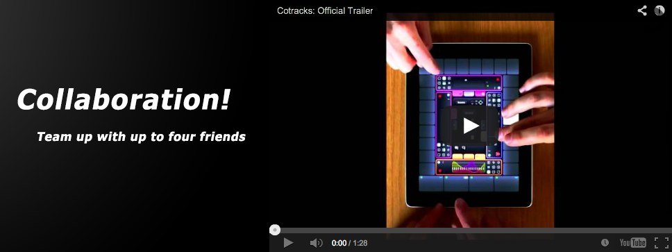 Cotracks multi-user collaborative music app designed for teamwork on iOS iPad has been released!