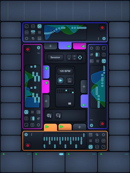 Cotracks collaborative Music Studio for iPad in multi user mode