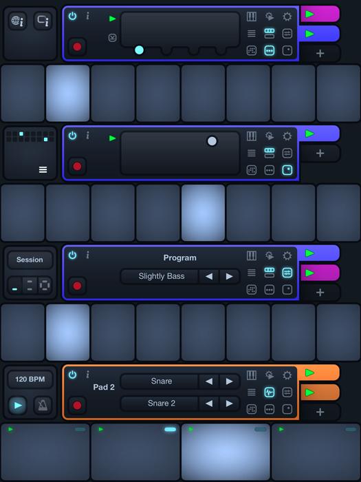 Cotracks collaborative Music Studio for iPad in single user mode
