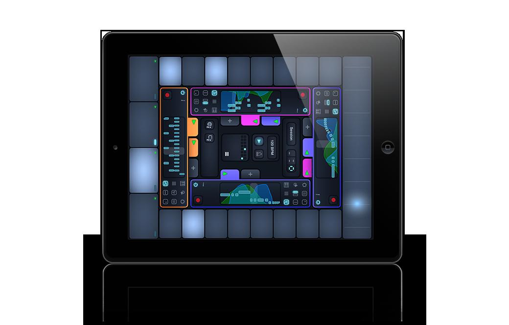 Cotracks collaborative multiuser music app for iPad in four user mode