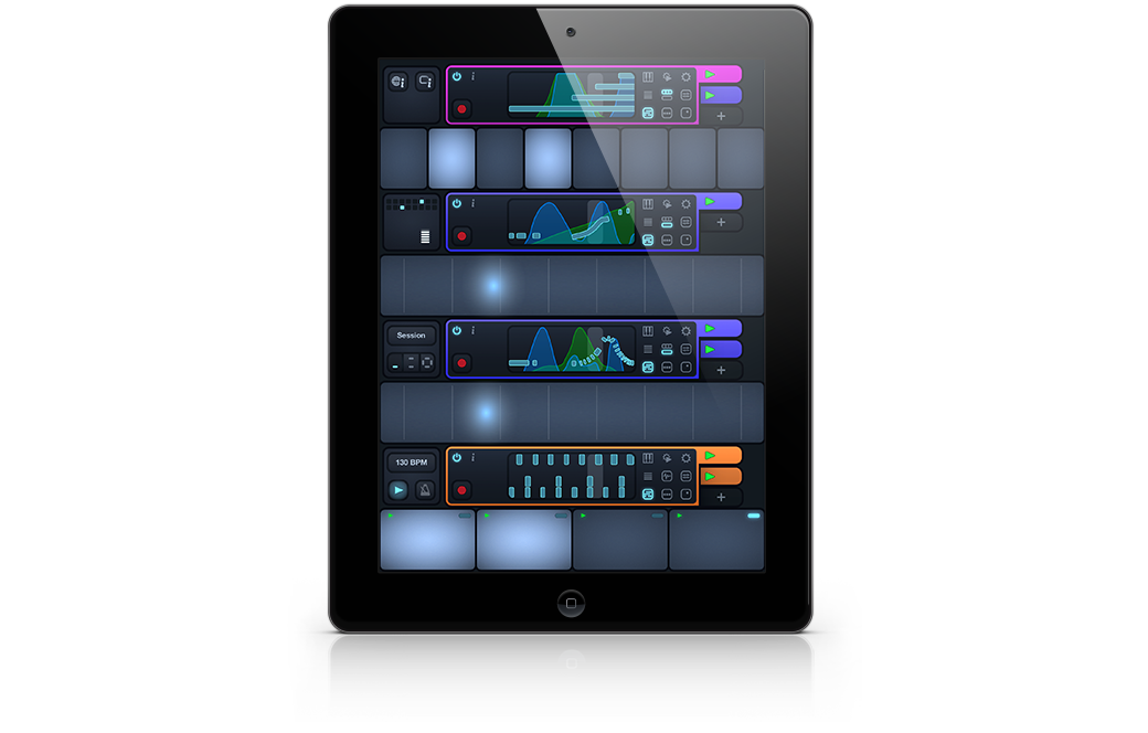 Cotracks collaborative multiuser music app for iPad in single user mode