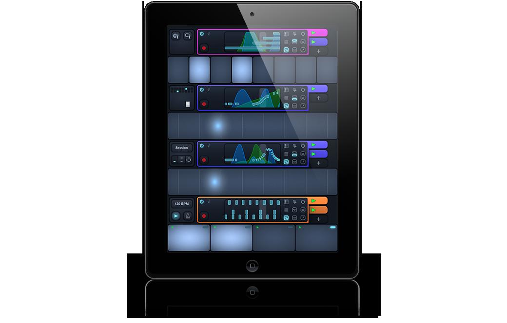 Cotracks collaborative multiuser music app for iPad in single user mode